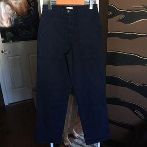 Aritzia Wilfred Free Black Ryley Utility Pants